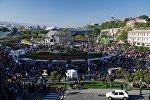 Площадь Европы и парк Рике в дни празднования Тбилисоба