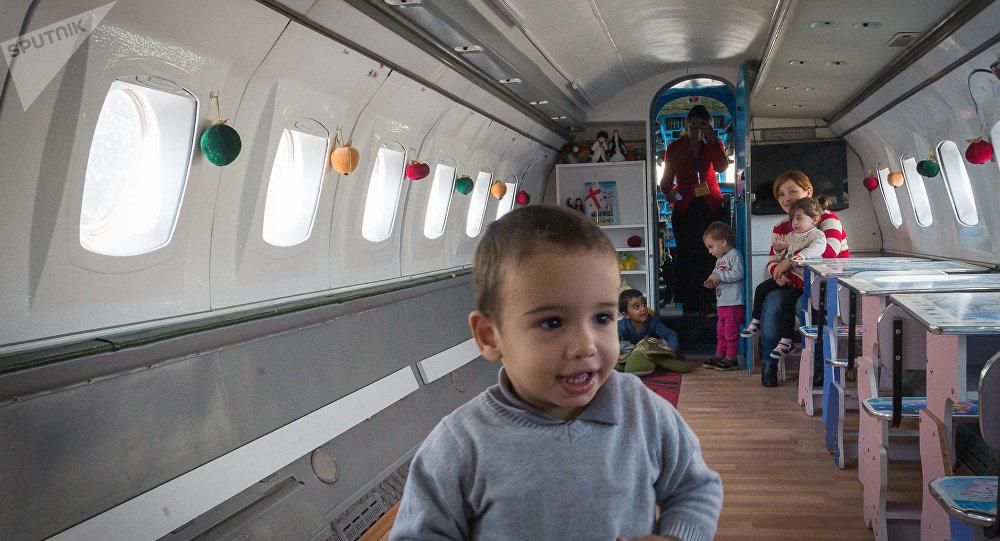 Детский сад в самолете в Рустави