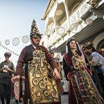 Исторический квартал Новый Тифлис за последний год стал излюбленным местом для разных перформансов и представлений артистов