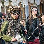 В основу необычных нарядов легли модели грузинской национальной одежды
