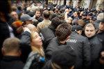 Акция протеста оппозиции у здания тбилисского сакребуло