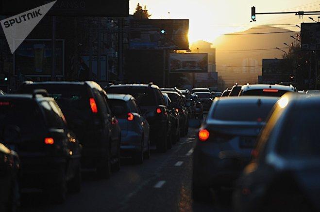 Пробки на улицах Тбилиси