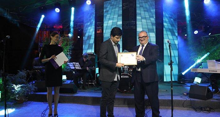 Церемония награждения на Международном фестивале науки и инновации