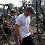 В штате Калифорния в связи с лесными пожарами была проведена эвакуация - свои дома покинули более 20 тысяч человек