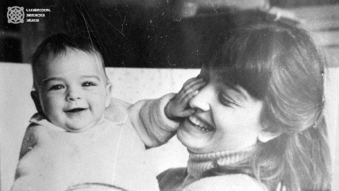 Лика Кавжарадзе с сыном