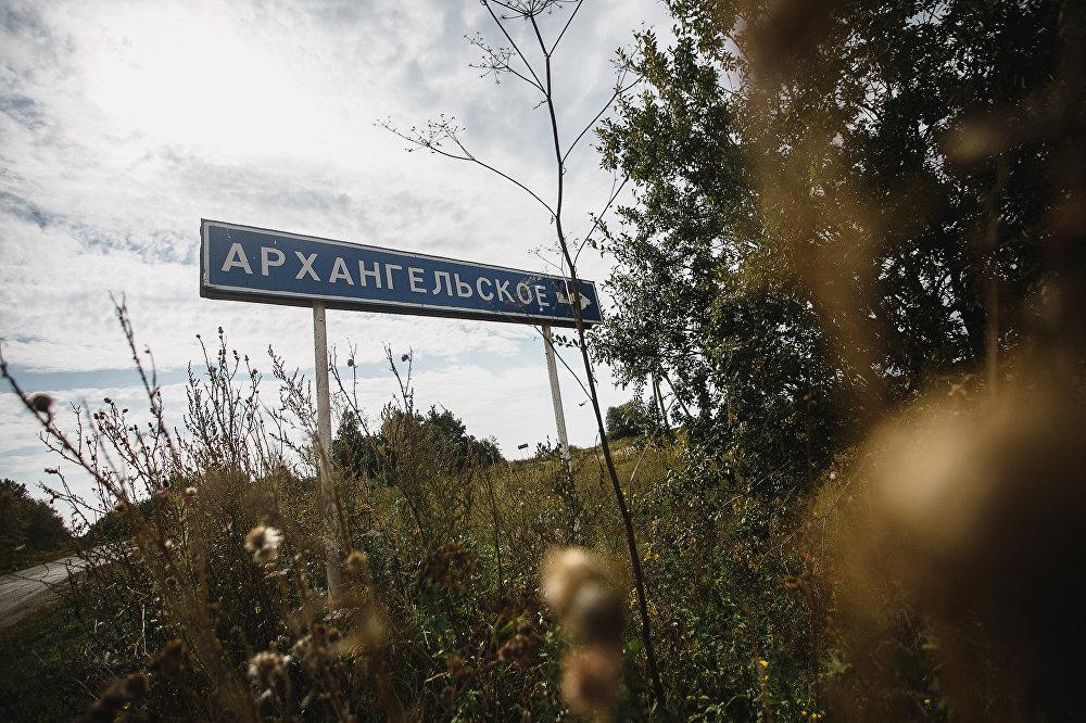 Дорога в село Архангельское: первый указатель на цель прячется в кустах, важно не промахнуться