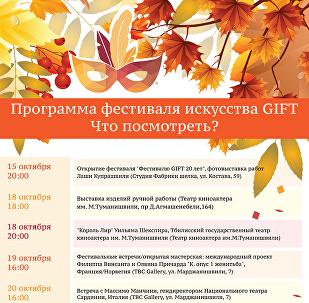 Программа фестиваля искусств GIFT