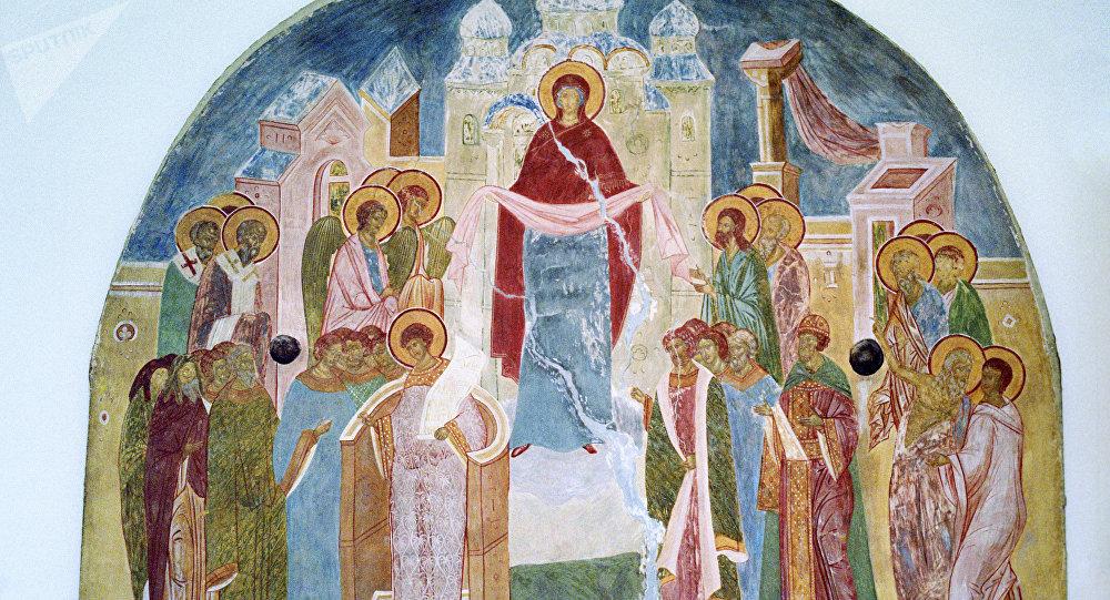 Фреска Покров на выставке Дионисий, живописец пресловущий