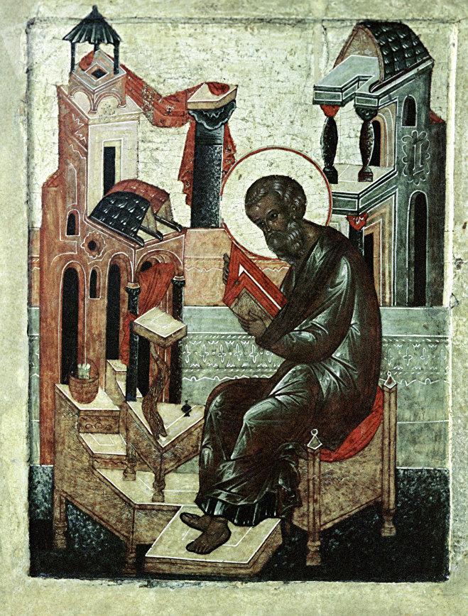 Репродукция иконы Покров Богоматери XVII века