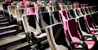 Кресла в зрительском зале в одном из тбилисских кинотеатров