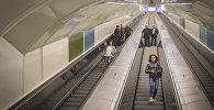 Эскалатор на новой станции метро в Тбилиси Государственный университет