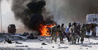 На месте взрыва в районе Ходан в городе  Могадишо в Сомали