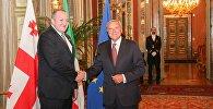 Президент Грузии Георгий Маргвелашвили встретился с председателем Сената Италии Пьетро Грассо