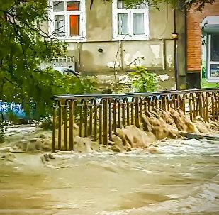 Наводнение в Кутаиси: кадры затопленных улиц