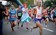 В тбилисском марафоне участвовали даже сказочные персонажи