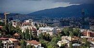 Тучи над городом Тбилиси