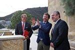Премьер-министр Грузии Георгий Квирикашвили с заместителем председателя Мюнхенской конференции Бенедиктом Франке