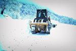 Снегоуборочный трактор