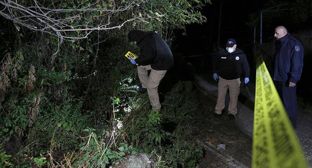 Криминалисты работают близ офиса партии Грузинская мечта в селе Кизиладжло