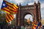 Ситуация у парламента Каталонии в Барселоне