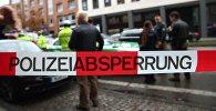 Полицейский на месте нападения на людей с ножом в Мюнхене