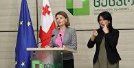 Спикер ЦИК Грузии Ана Микеладзе на брифинге в день выборов