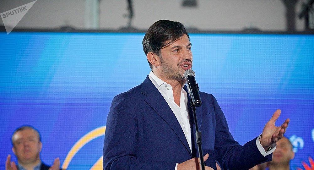Каха Каладзе благодарит своих сторонников за поддержку на выборах