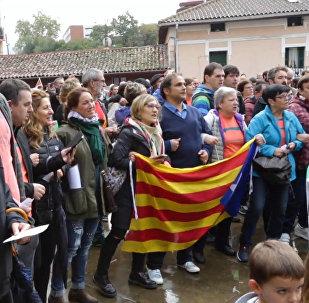 ბასკებმა კატალონიის დამოუკიდებლობის შესახებ რეფერენდუმის მხარდამჭერი აქცია გამართეს