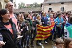 Баски выстроились живой цепью в поддержку референдума в Каталонии
