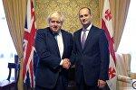 Главы МИД Великобритании и Грузии Борис Джонсон и Михаил Джанелидзе