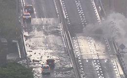 Мощный тайфун Лан обрушился на Японию