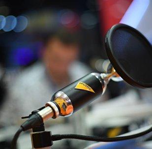 Стенд Sputnik на Всемирном фестивале молодежи и студентов в Сочи