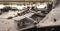 Последствия разрушительного шторма в Северной Каролине