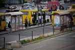 Автобусная остановка на Вокзальной площади