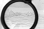 Сейсмограмма землетрясения, архивное фото