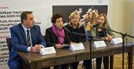 Пресс-конференция по случаю открытия международной театральной конференции Европейской театральной конвенции