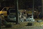 Последствия взрыва в центре Киева, в результате которого погибло 2 человека