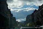 Тучи в небе над Тбилиси
