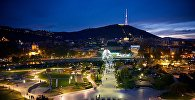 Вид на парк Рике, мост Мира и тбилисскую телебашню
