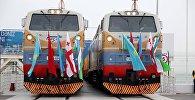 Церемония открытия железной дороги Баку-Тбилиси-Карс