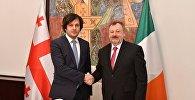 Ираклий Кобахидзе на встрече с ирландским коллегой Денисом О'Донованом