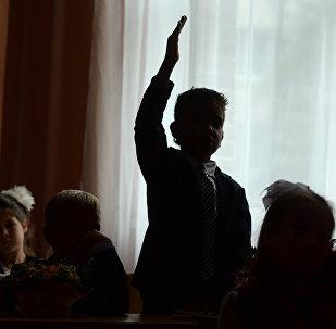 Начало учебного года в Москве, архивное фото