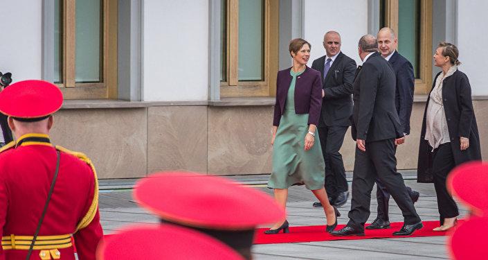Президенты Грузии и Эстонии Георгий Маргвелашвили и Керсти Кальюлайд