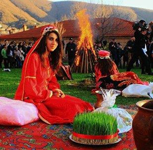 Празднование Новрузз байрамы в Шеки