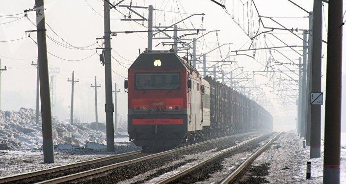 Грузовой поезд. РЖД
