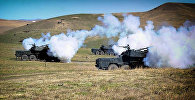 Артиллерийские учения на базе в Вазиани