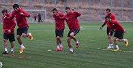 Тренировка сборной Грузии по футболу