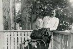 Князь, поэт и публицист Илья Чавчавадзе и его жена Олга Гурамишвили