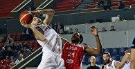 Игрок баскетбольного клуба Динамо Тбилиси Леван Пацация