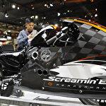 Новая модель мотоцикла Harley Davidson Screamin Eagle на мотосалоне EICMA в Милане